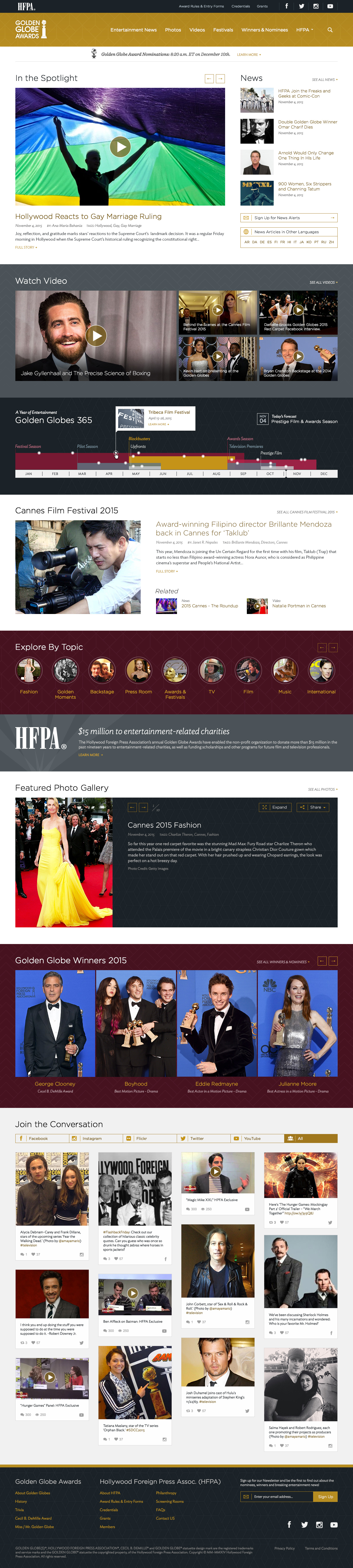 Golden Globes home page